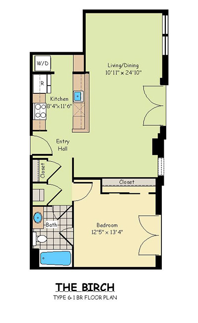 One Bedroom Apartments - The Birch