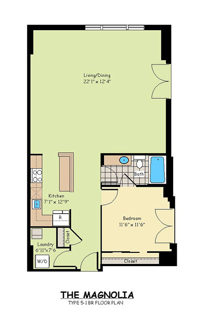 One Bedroom Apartments - The Magnolia